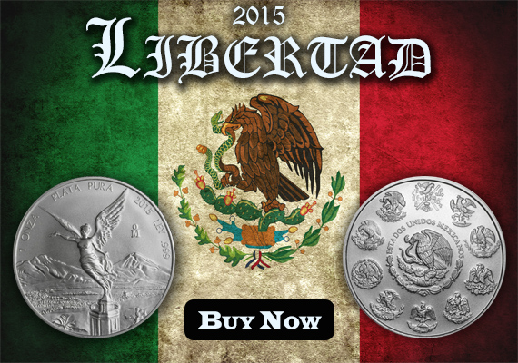 Buy 1 oz 2015 Silver Libertads from SDBullion