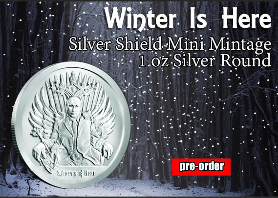 Buy Winter Is Here Putin Silver Coins at SD Bullion