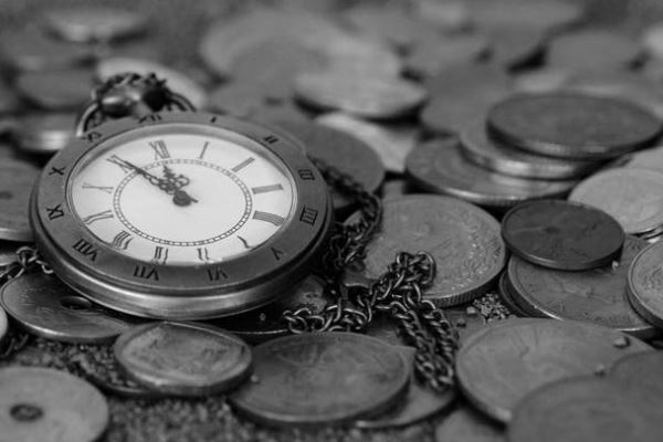 Pocket Watch With Coins