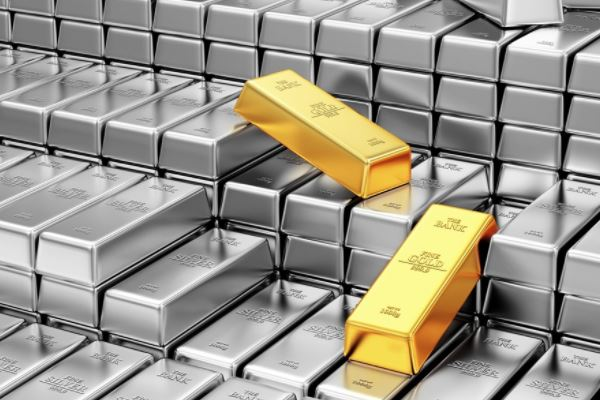 Stacked Gold & Silver Bars